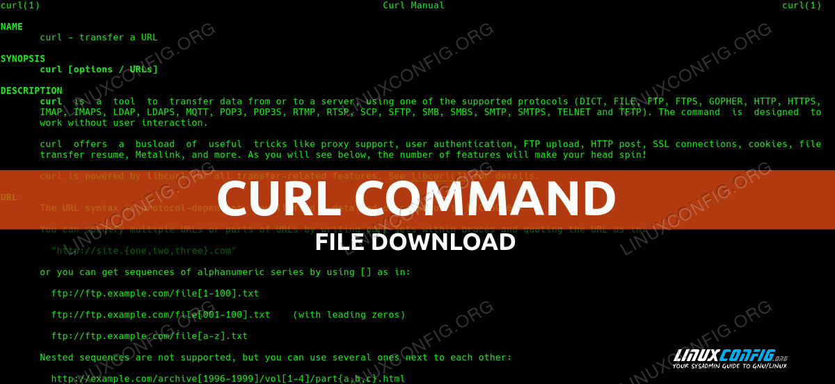 Curl command on Linux