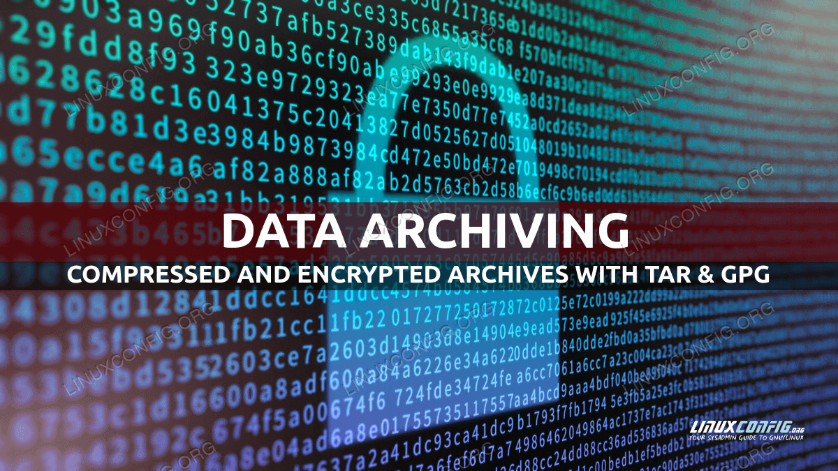 How to create compressed encrypted archives with tar and gpg