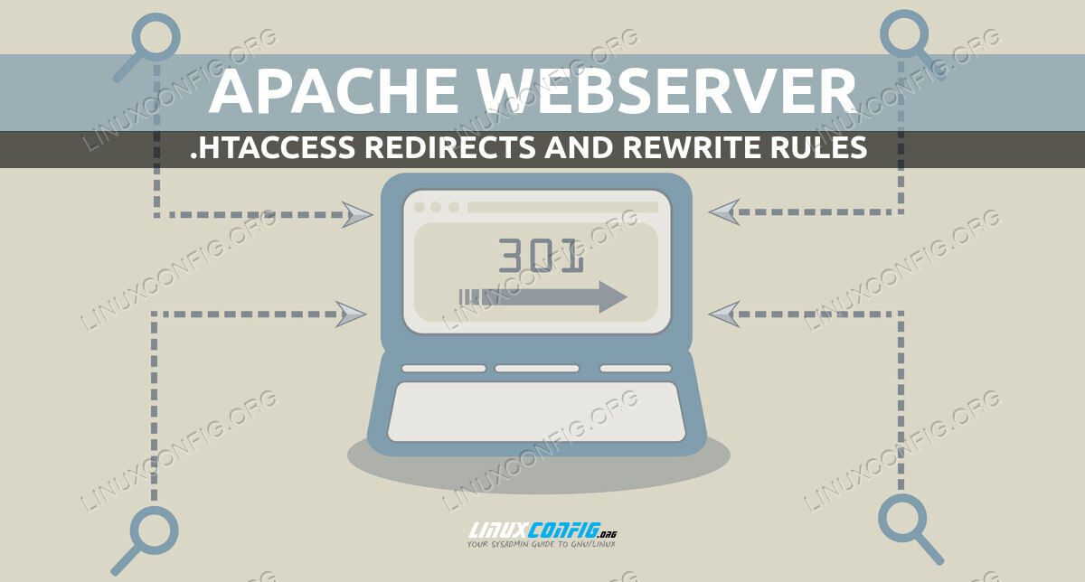 Create redirect and rewrite rules into .htaccess on Apache webserver