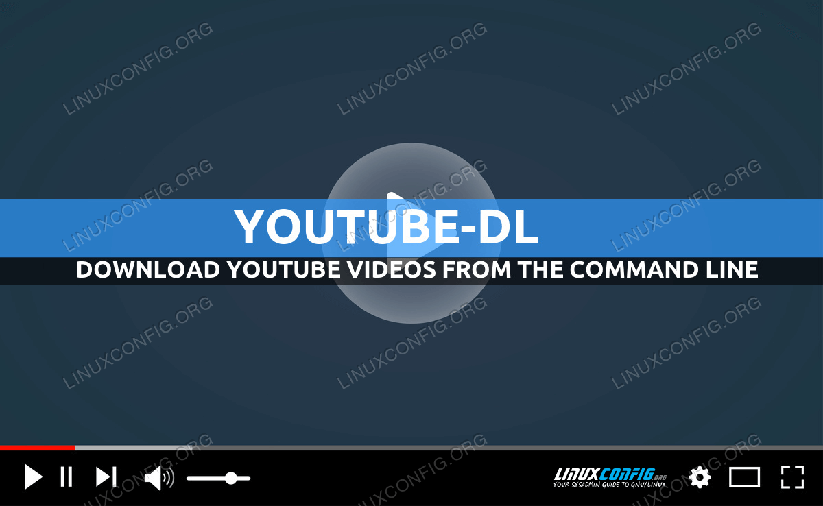 How to download online videos from the command line using Youtube-dl