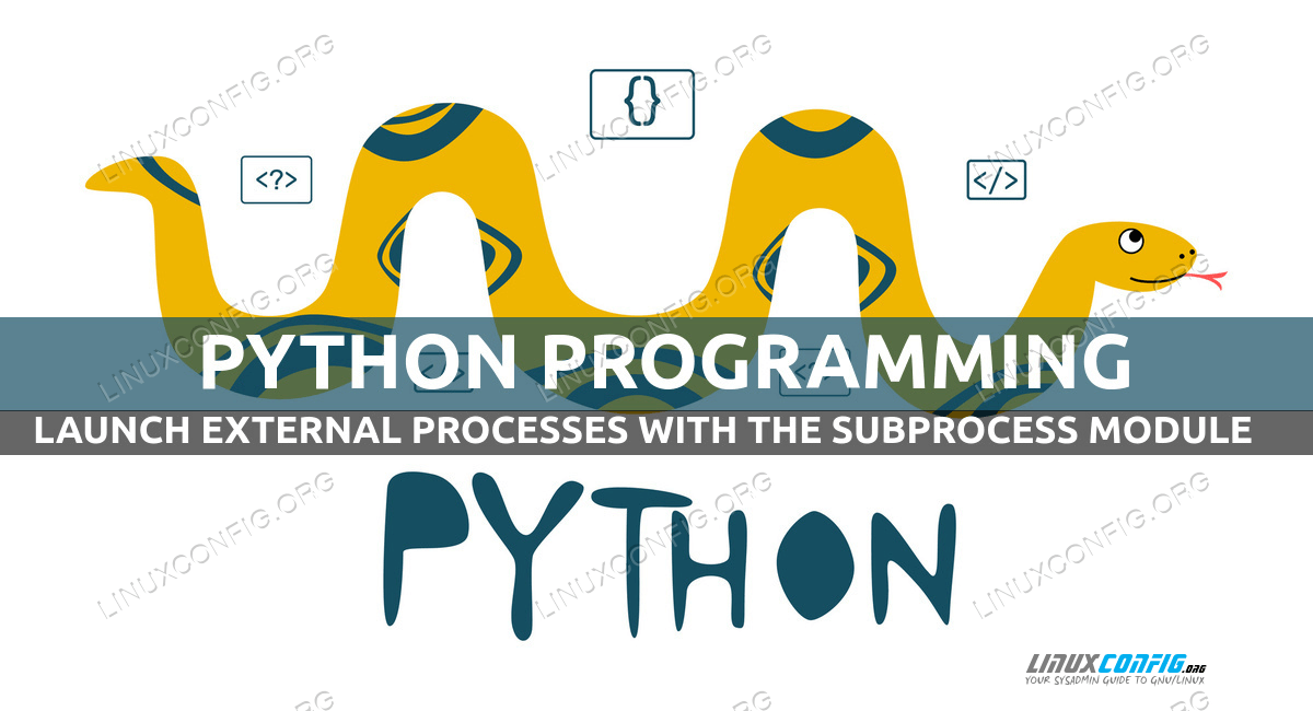 How to launch external processes with Python and the subprocess module