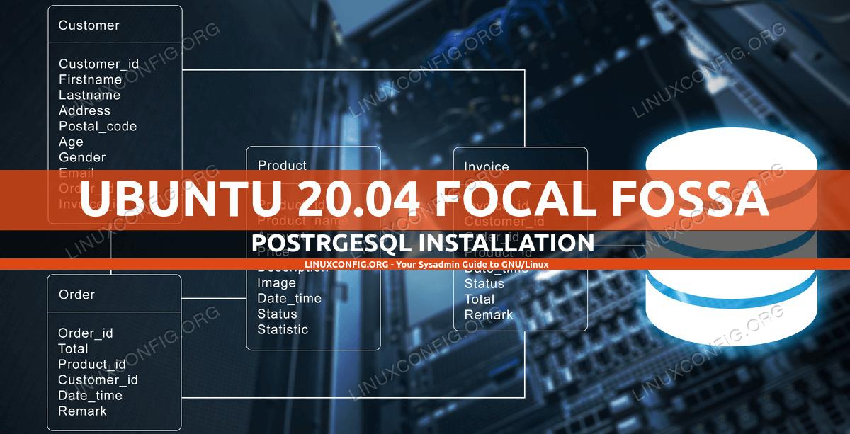 Ubuntu 20.04 PostgreSQL