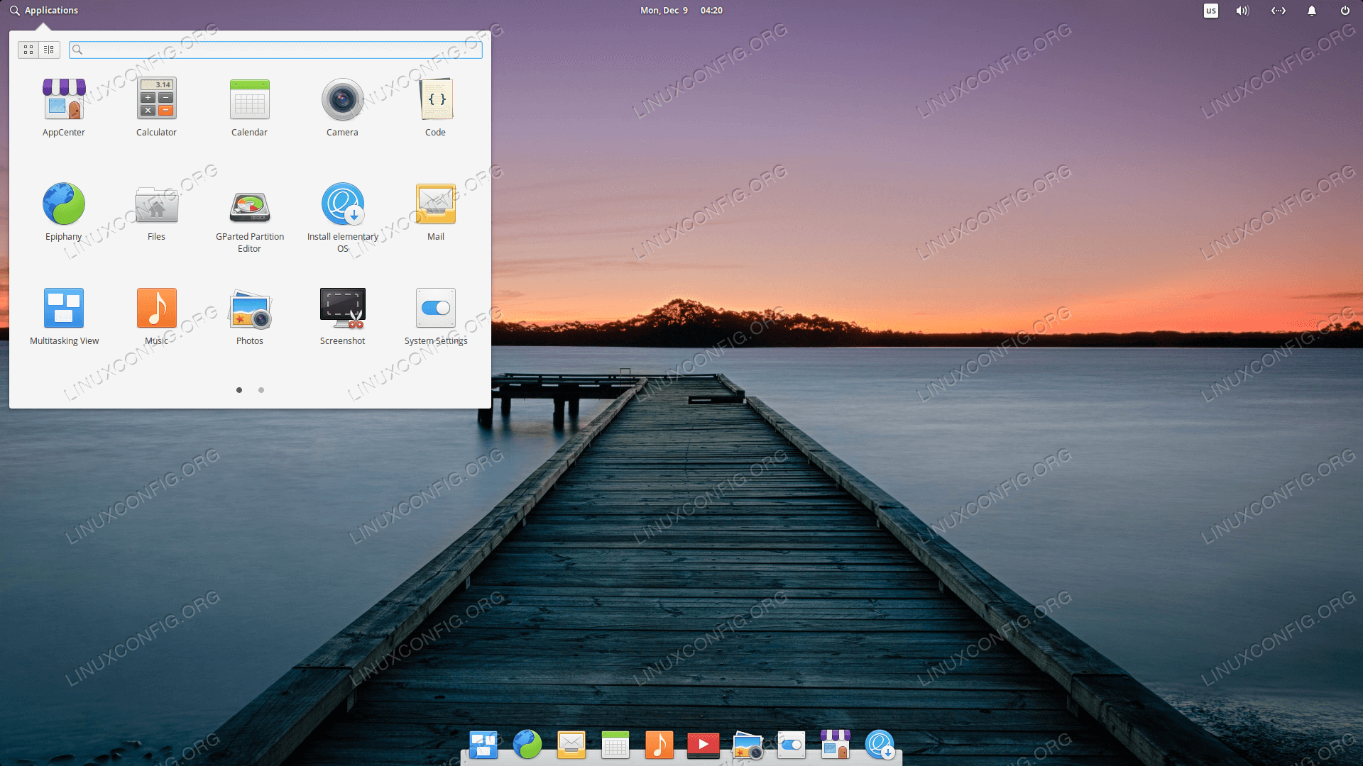 Elementary OS desktop screenshot