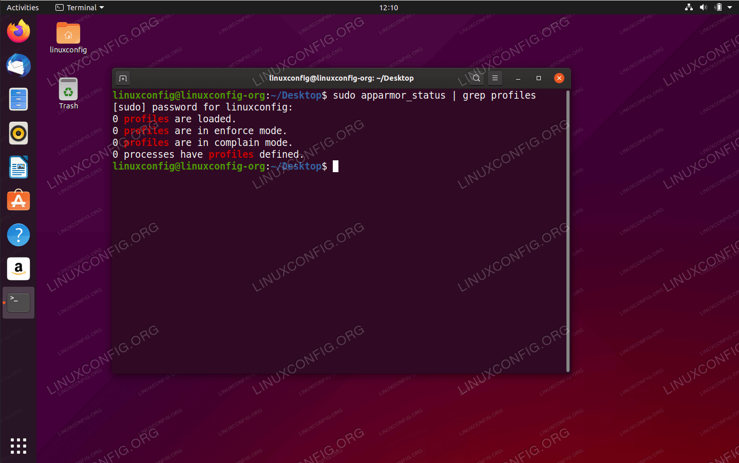 Disabled AppArmor on Ubuntu 20.04 Focal Fossa Linux