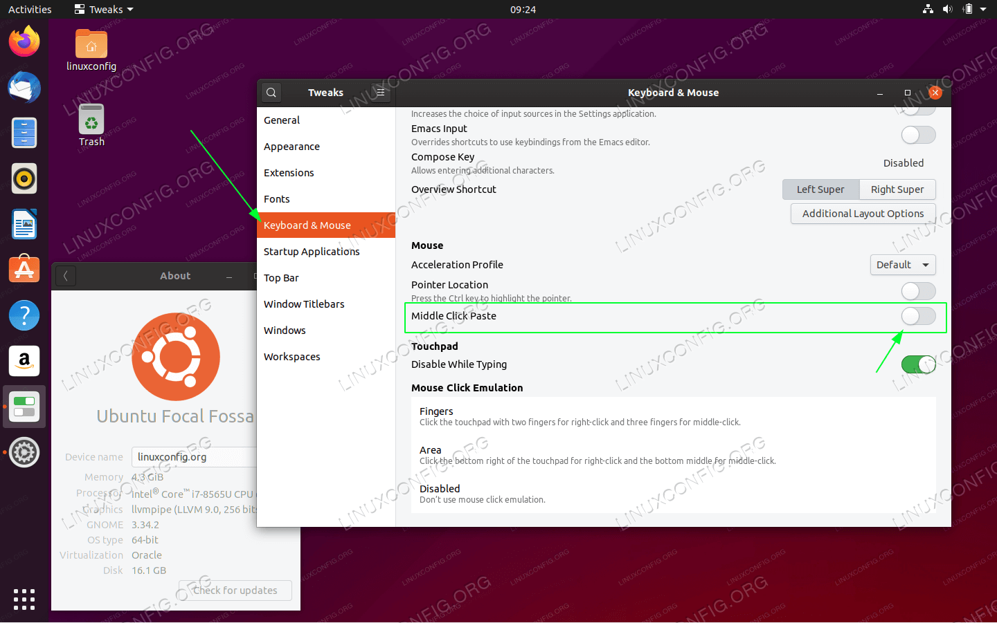 Disable middle mouse button click paste on Ubuntu 20.04 Focal Fossa GNOME desktop