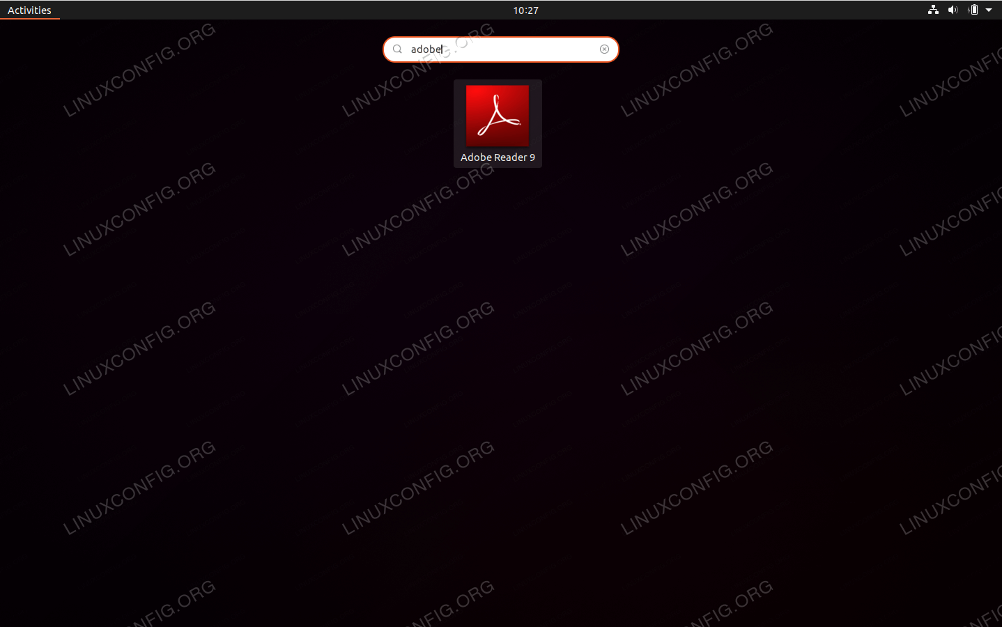 Launch Adobe Acrobat Reader on Ubuntu 20.04