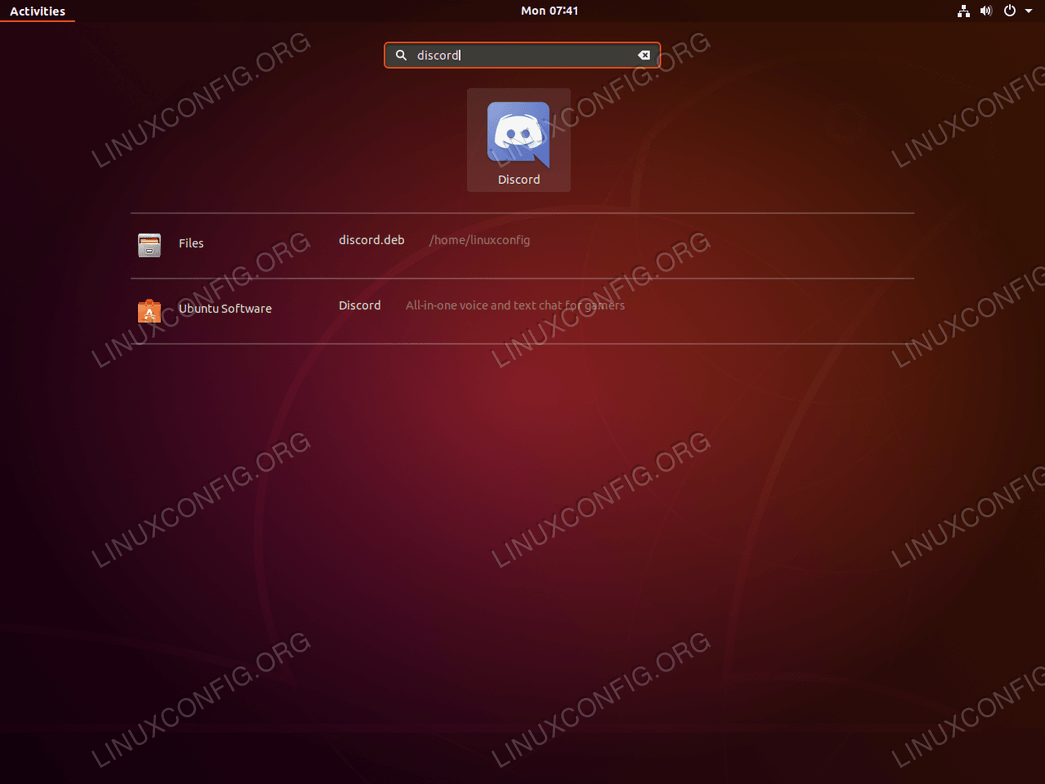 Start Discord on Ubuntu 18.04 Bionic Beaver Linux