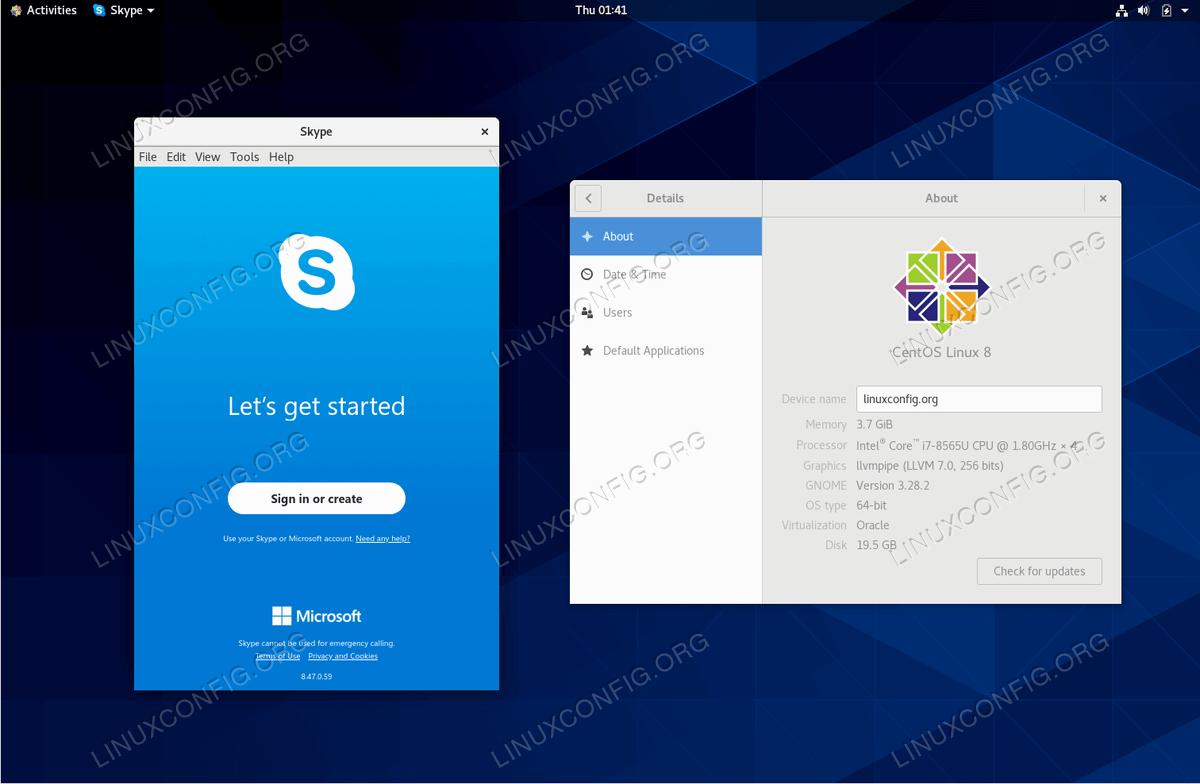 Skype on CentOS 8 Linux