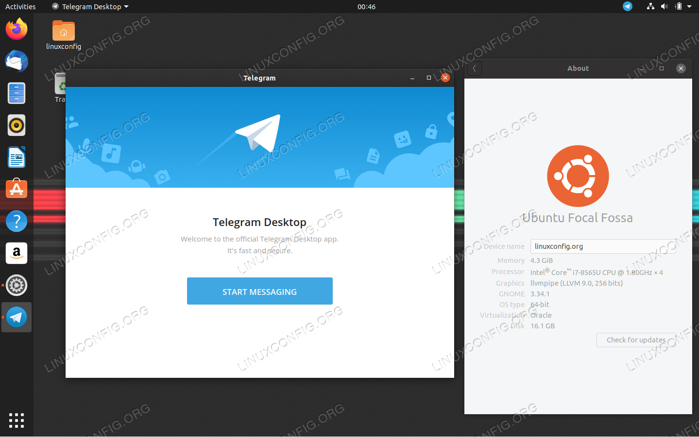 Telegram on Ubuntu 20.04 Focal Fossa Linux