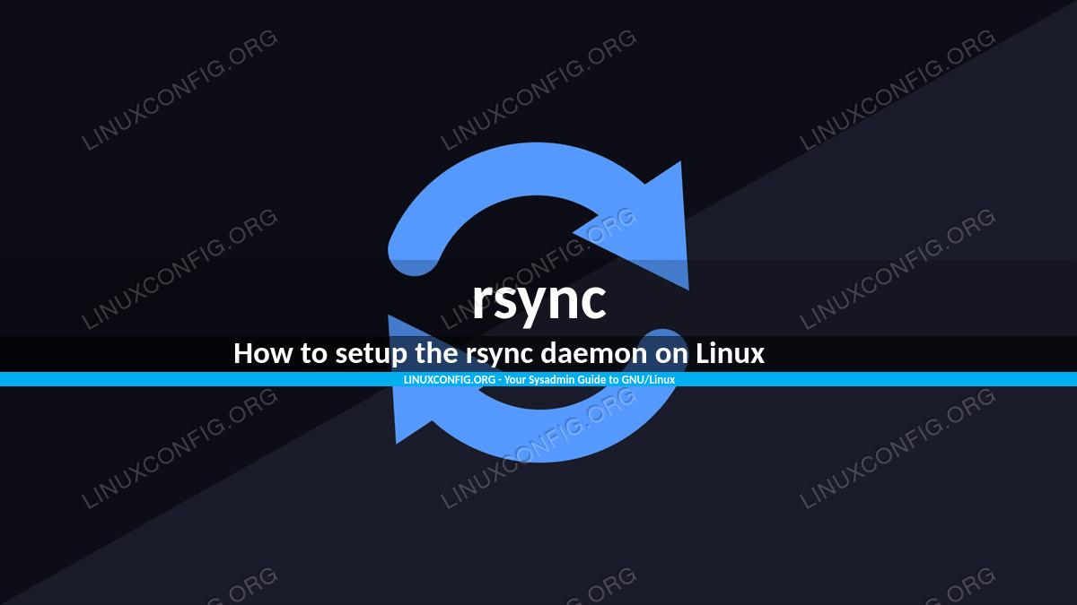 How to setup the rsync daemon on Linux