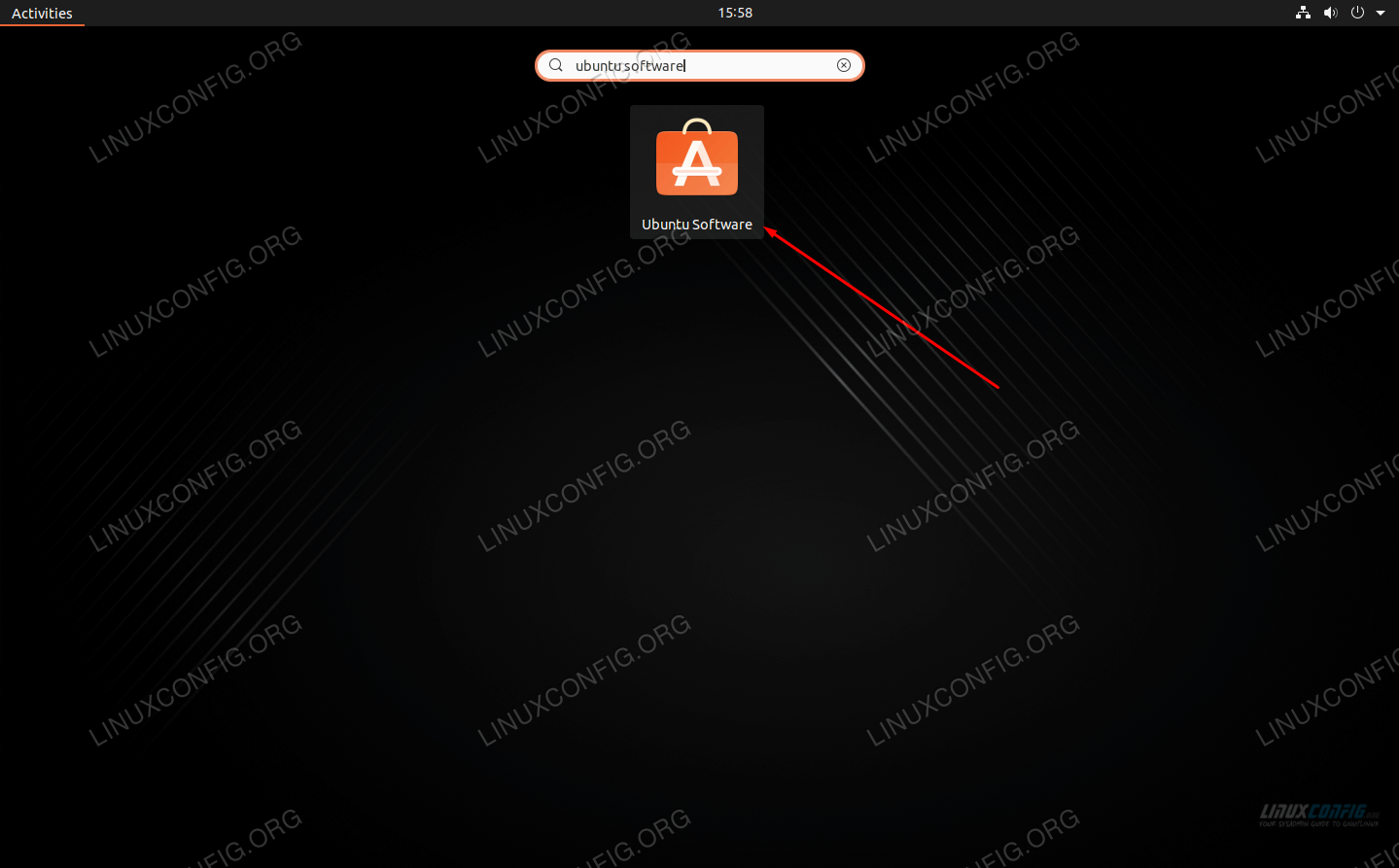 Locate the Ubuntu Software utility