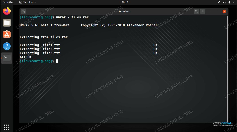 Unrar on Ubuntu