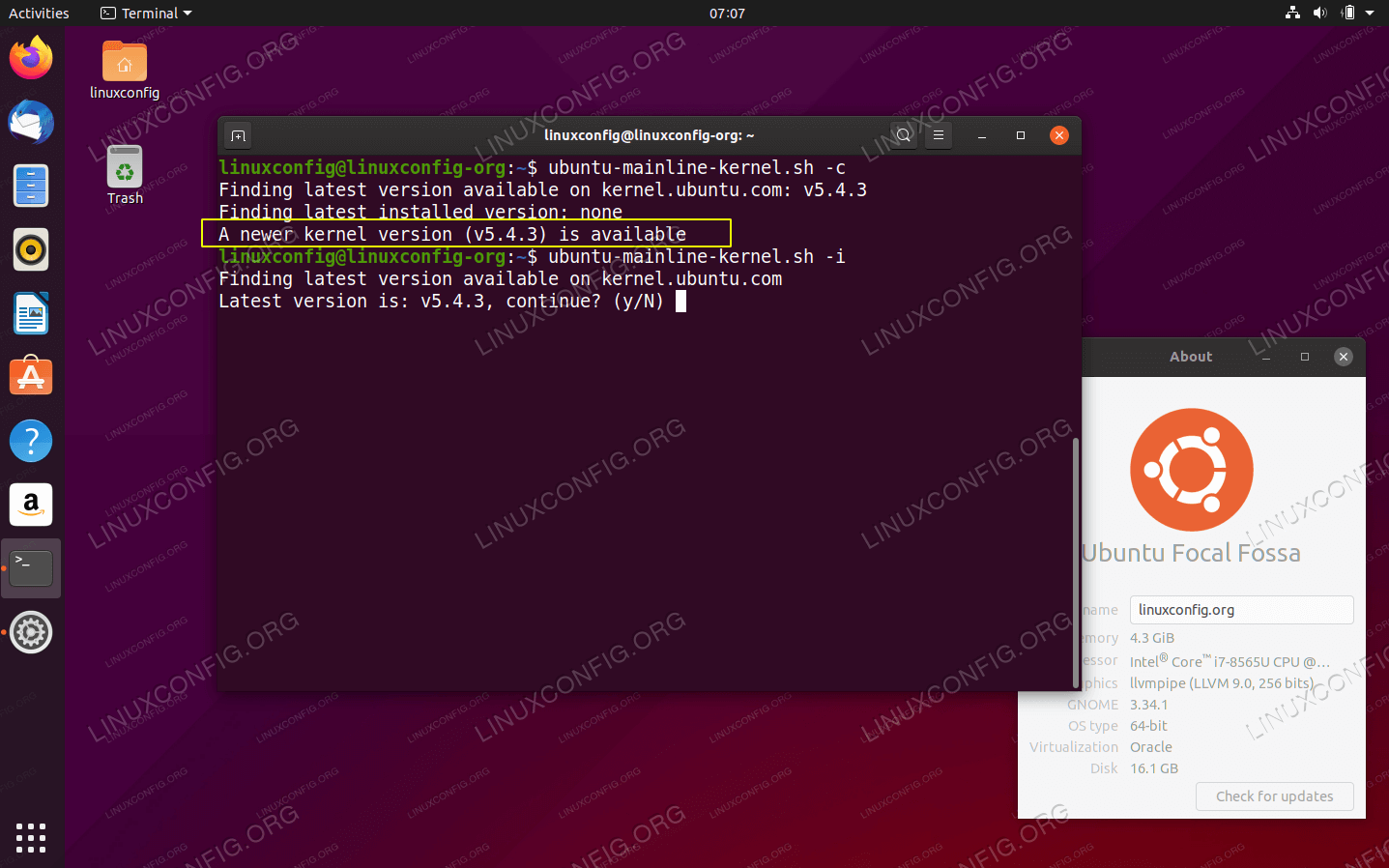 Upgrade kernel to latest version on Ubuntu 20.04 Focal Fossa Linux
