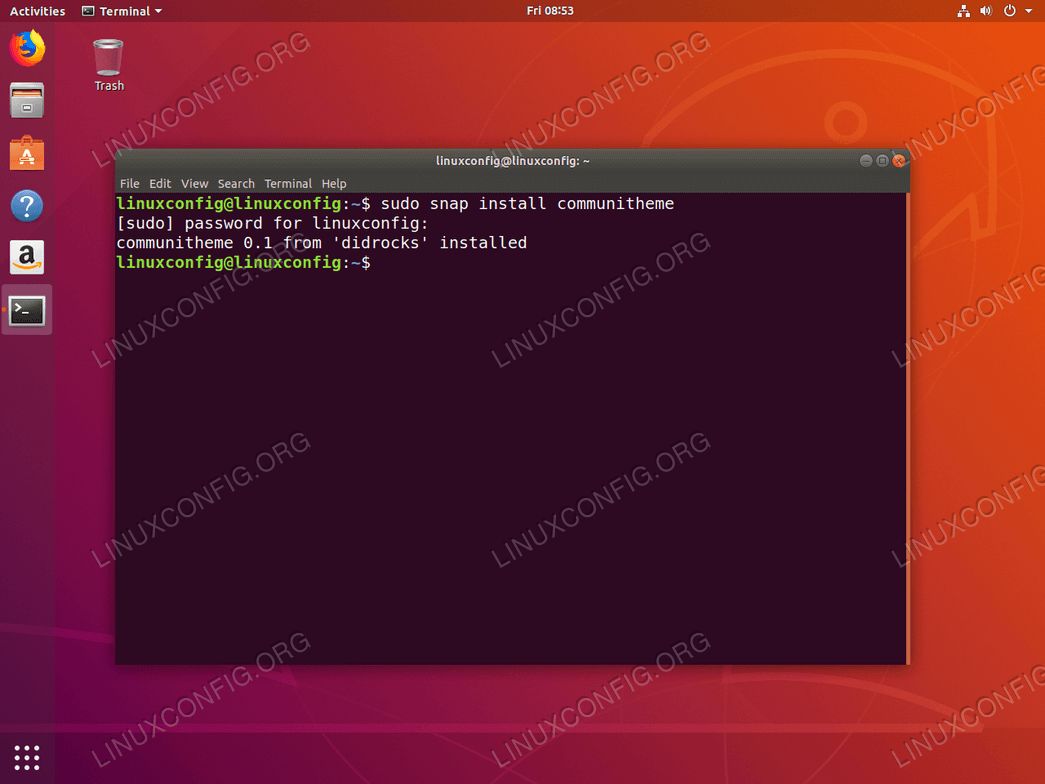 install Communitheme on Ubuntu 18.04