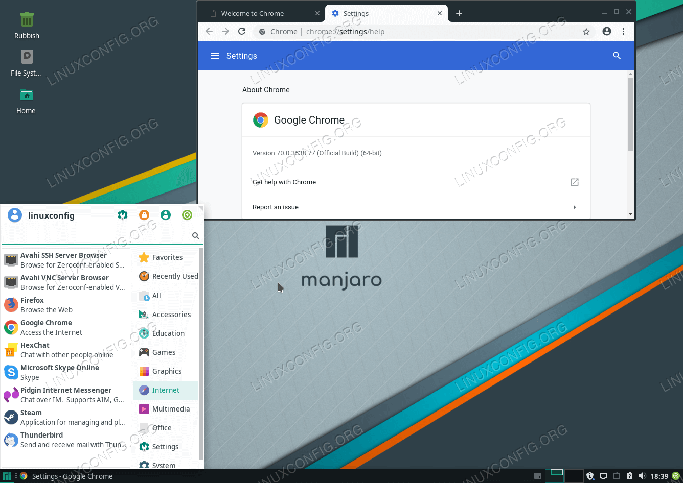 How to install Google Chrome on Manjaro 18 Linux - LinuxConfig org