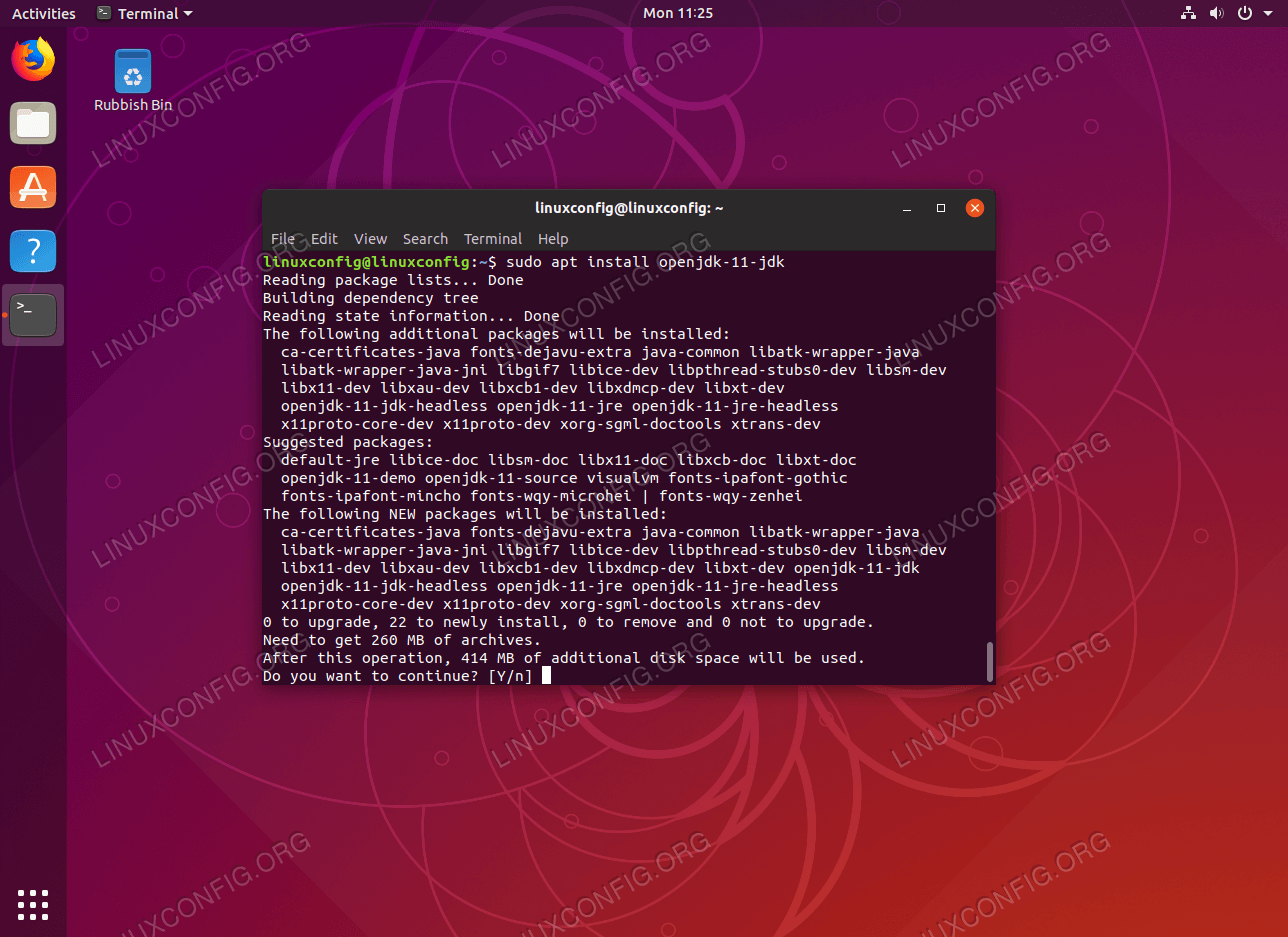 Install Open JDK java on Ubuntu 18.10 Cosmic Cuttlefish
