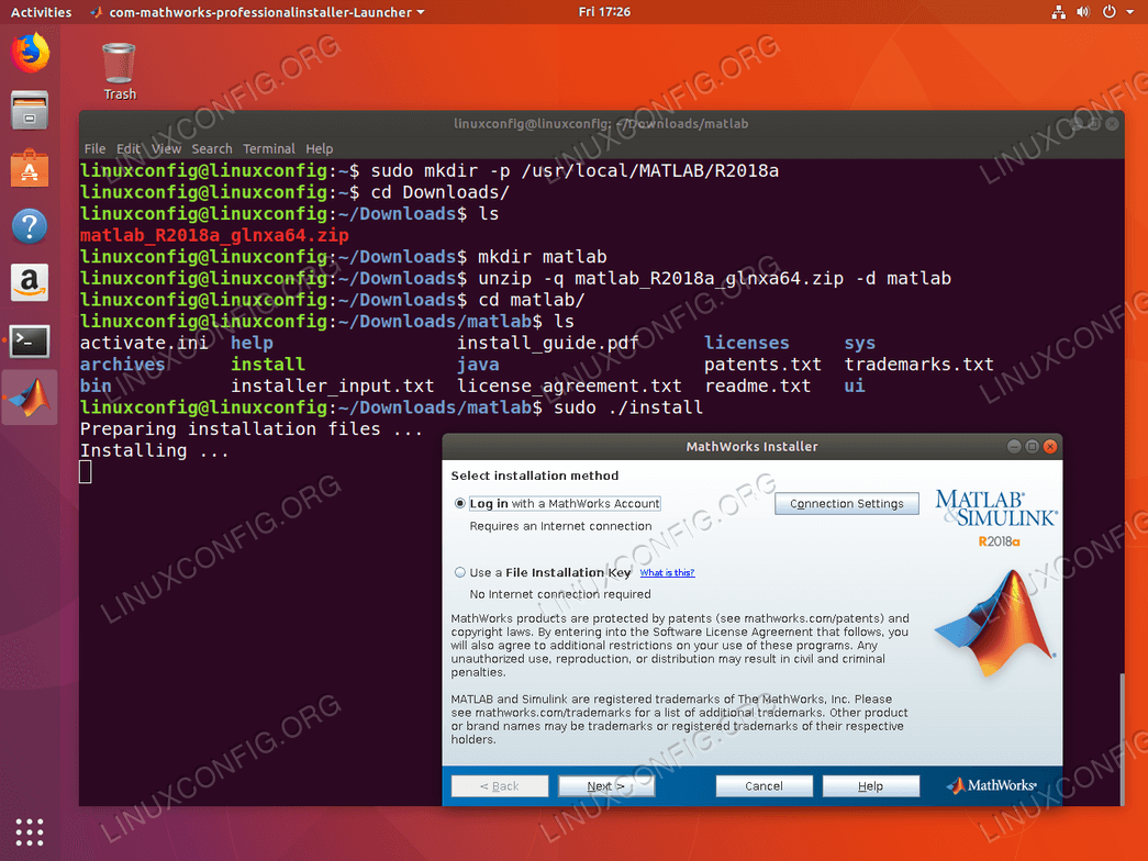 How to install MATLAB on Ubuntu 18 04 Bionic Beaver Linux
