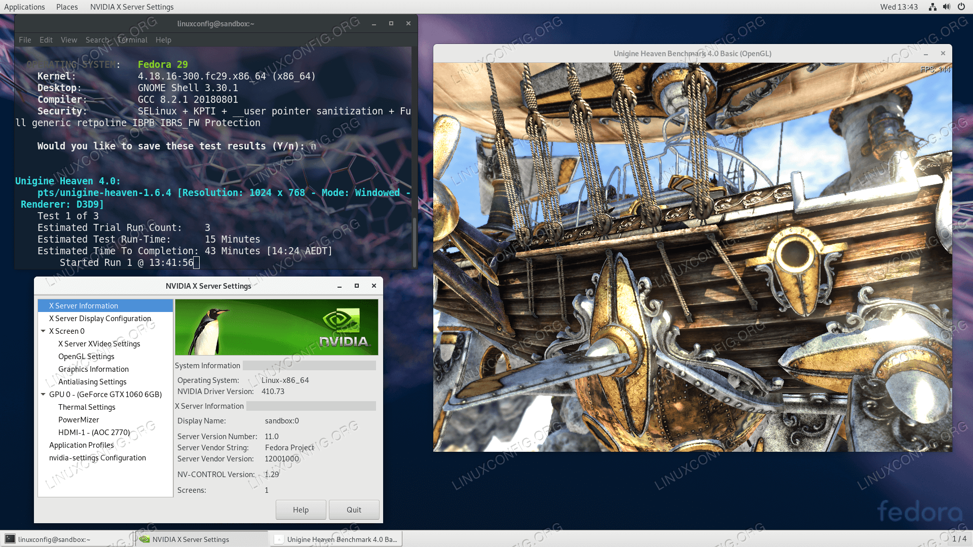 How to install the NVIDIA drivers on Fedora 29 Linux - LinuxConfig org