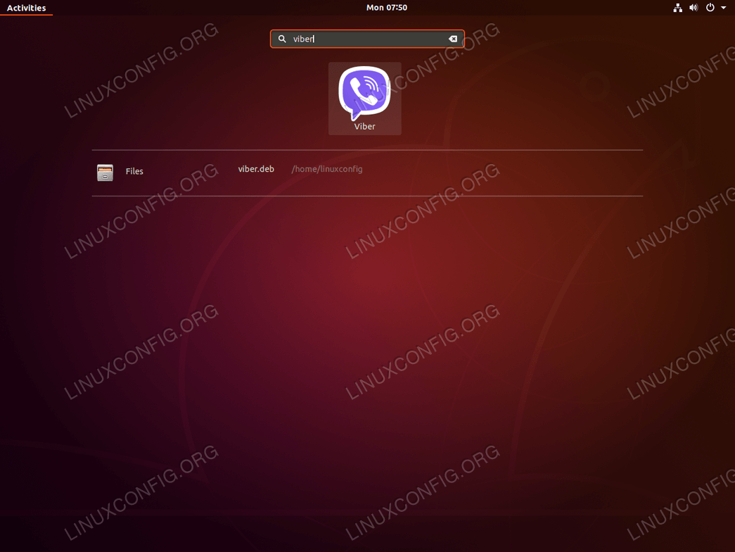 Viber ubuntu 18.04 - start application
