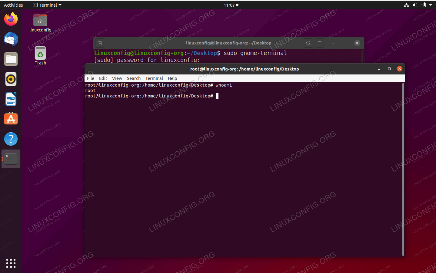 Command Line Terminal on Ubuntu 20.04
