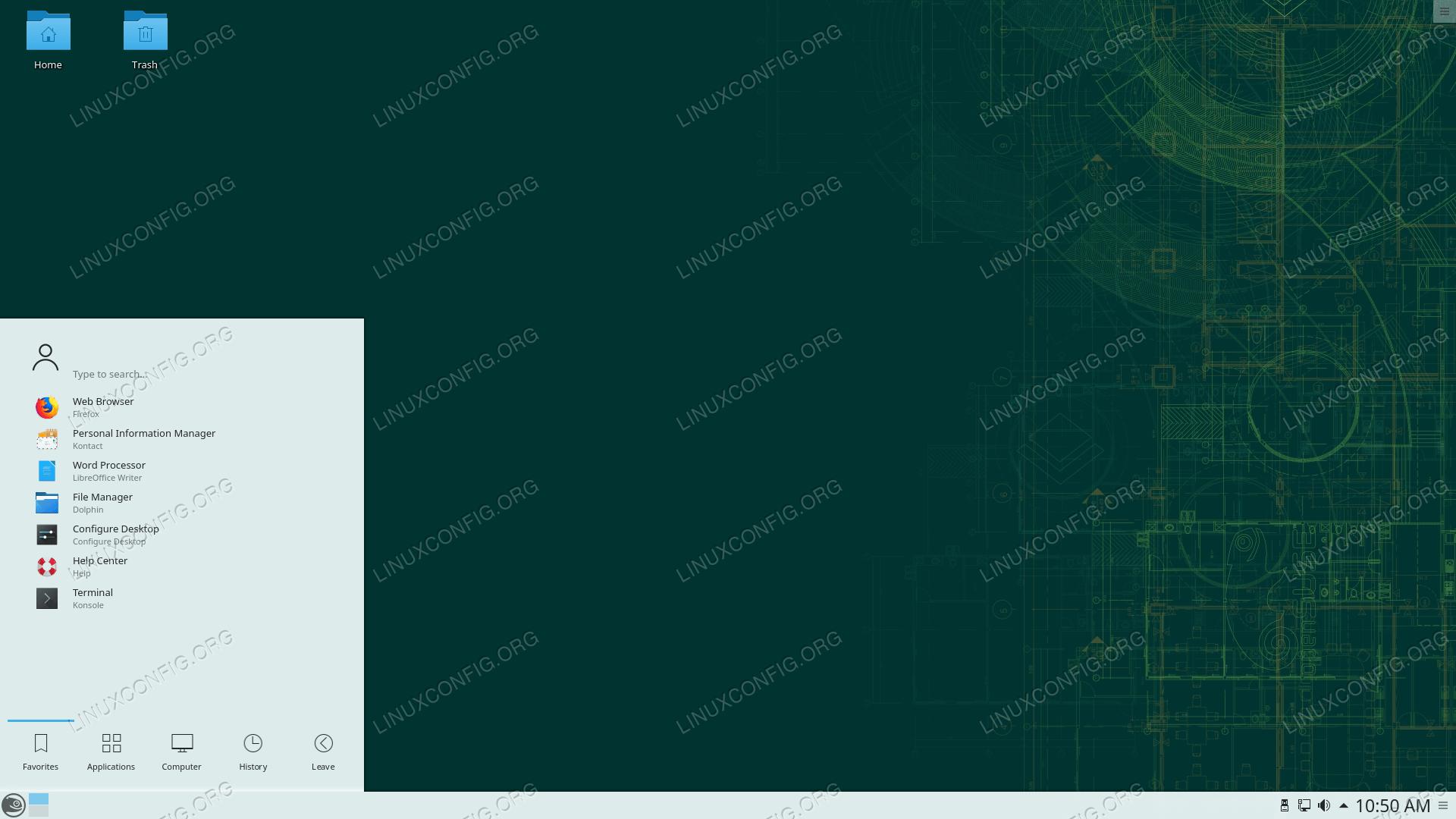 OpenSUSE running KDE Plasma desktop environment