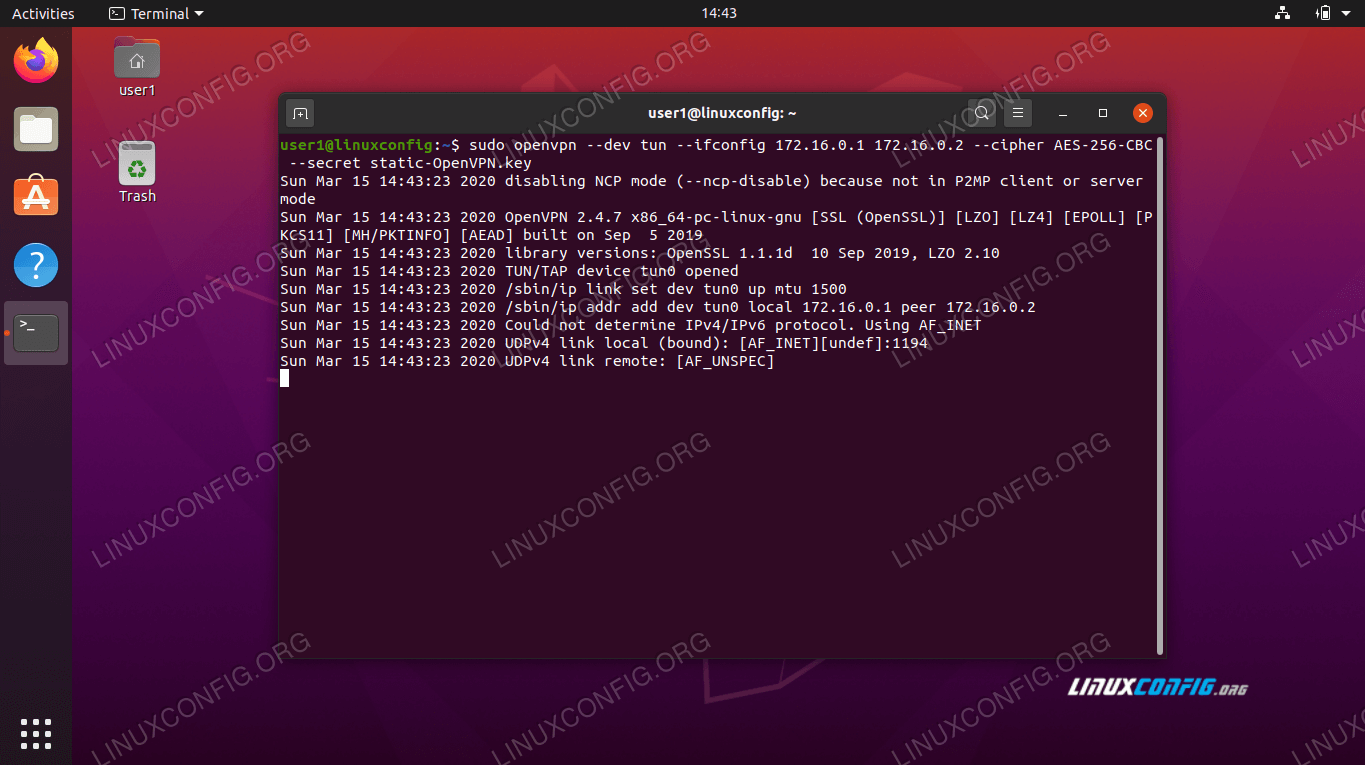 Starting OpenVPN Server on Ubuntu 20.04