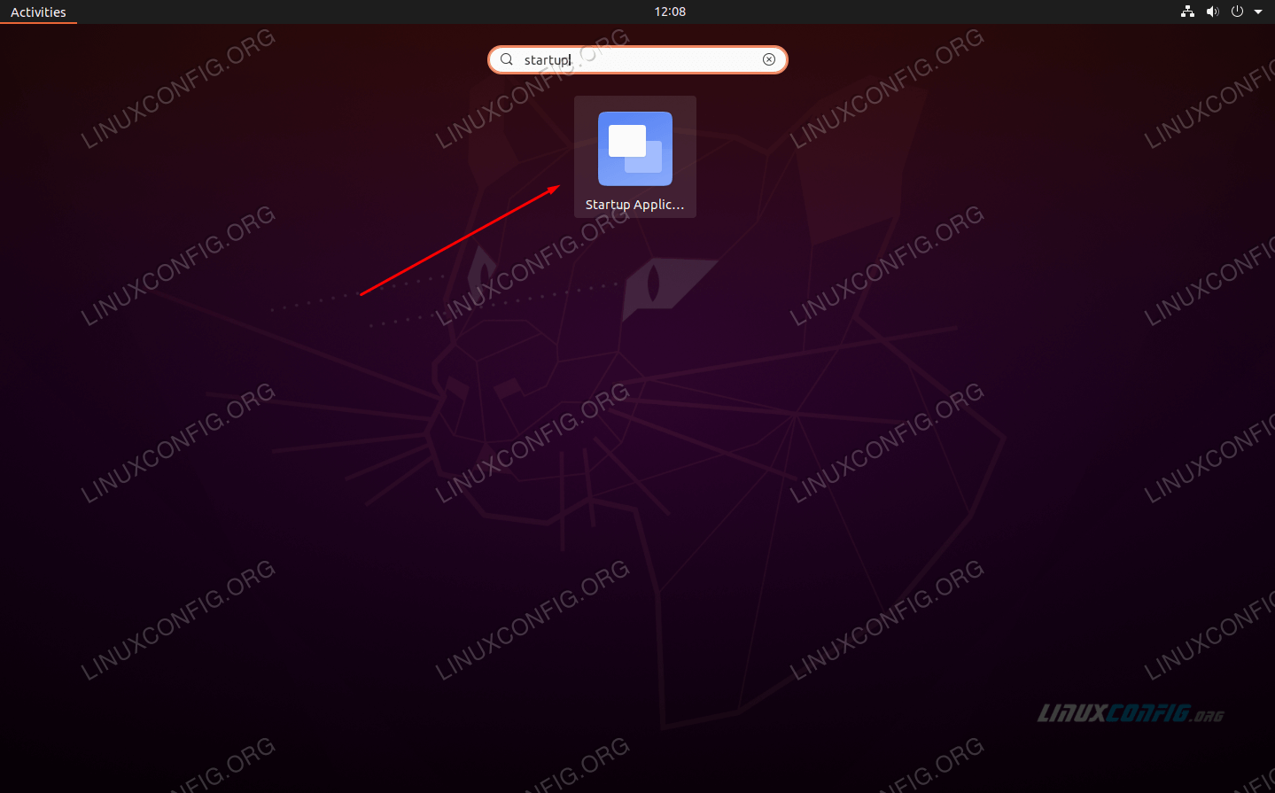Open up Startup Applcations from the Ubuntu application launcher