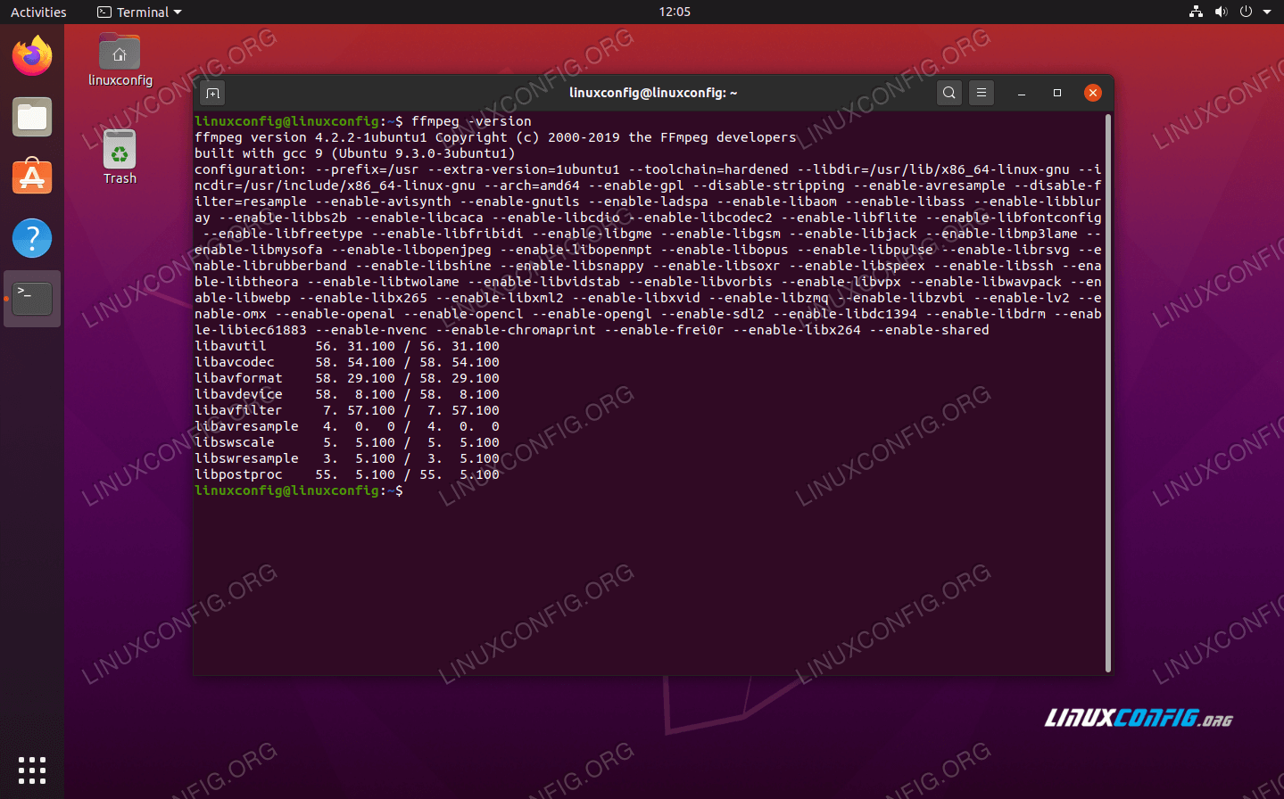 FFmpeg on Ubuntu 20.04