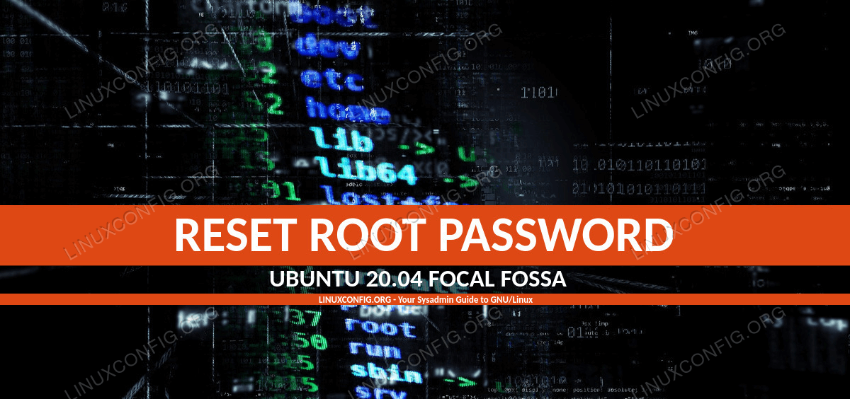 Ubuntu 20.04 reset root password