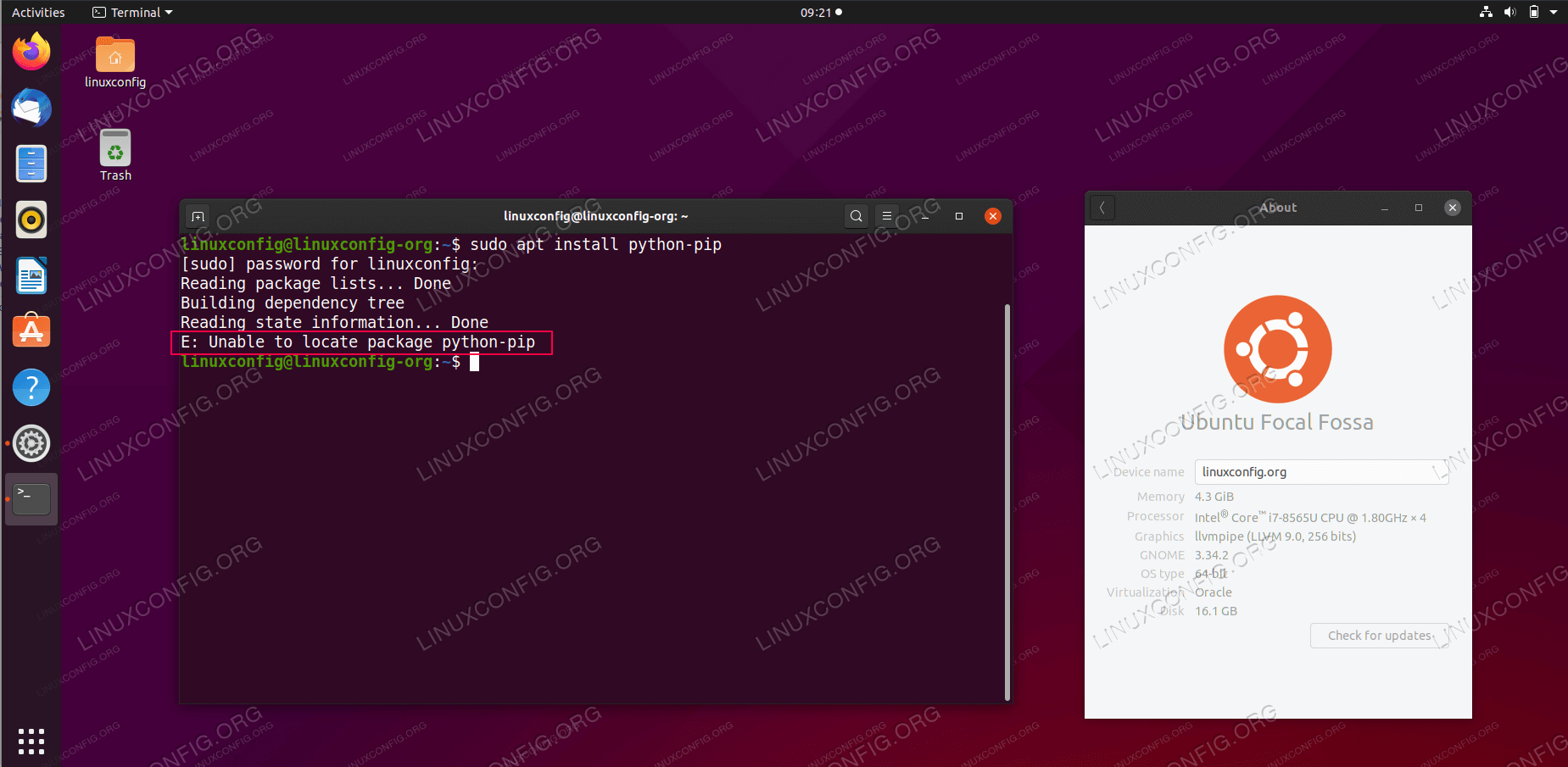 Unable to locate package error on Ubuntu 20.04 Focal Fossa Linux