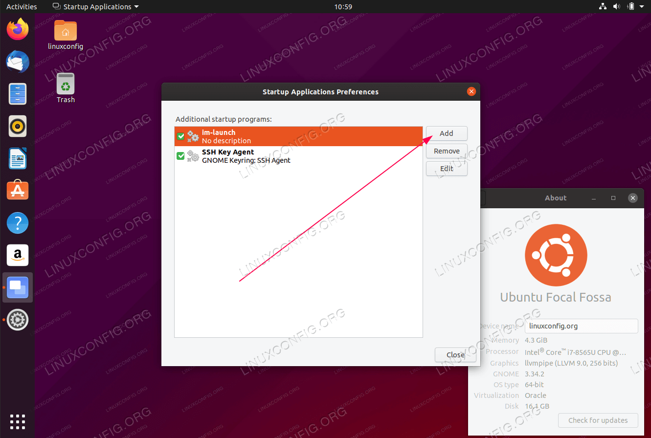 How to autostart applications on Ubuntu 20.04 Focal Fossa Linux
