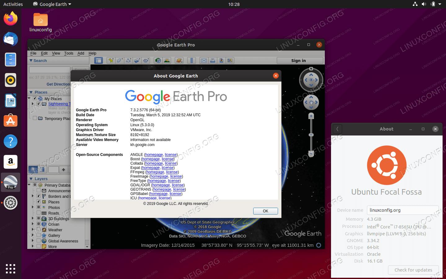 Google Earth on Ubuntu 20.04 Focal Fossa Linux