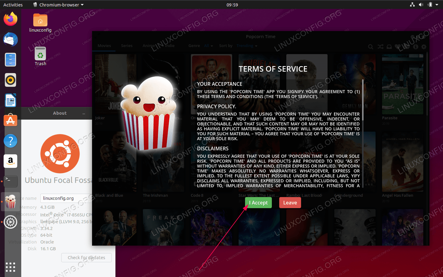 Start Popcorn Time Movie Player