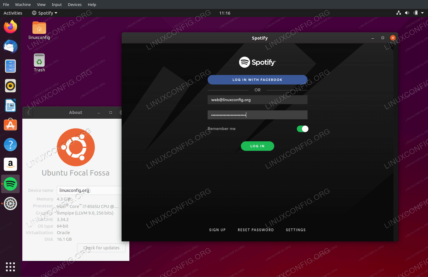 Spotify on Ubuntu 20.04 Focal Fossa Linux