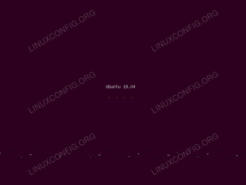 Ubuntu 18.04 installation wizard