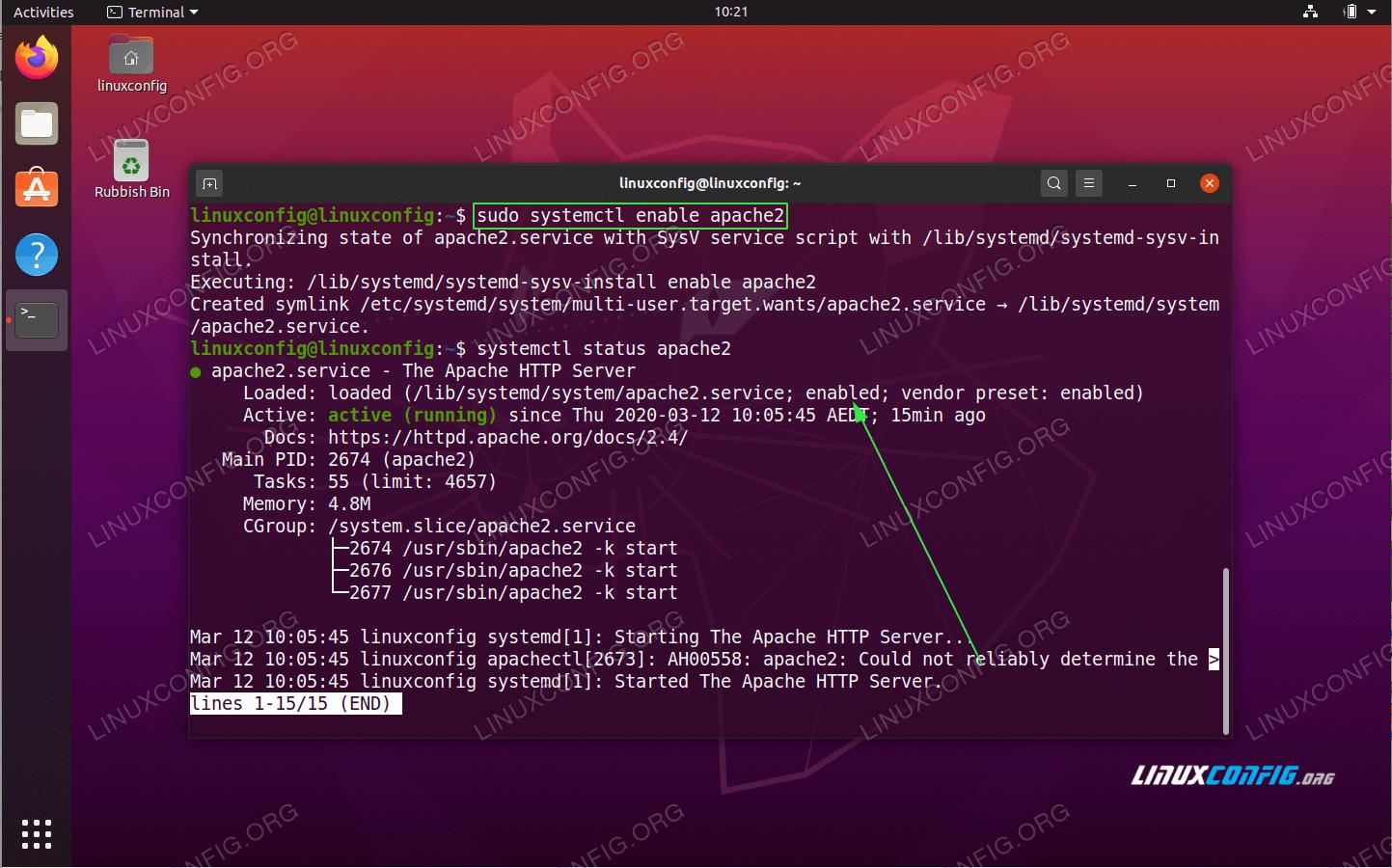 How to start service on boot on Ubuntu 20.04 Focal Fossa