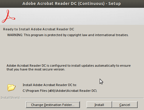how to install adobe reader in linux using terminal