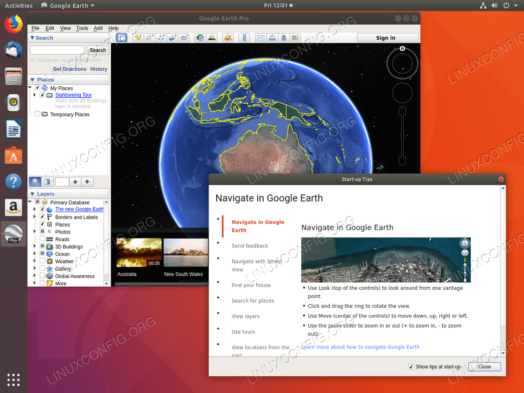 Google Earth - Ubuntu 18.04
