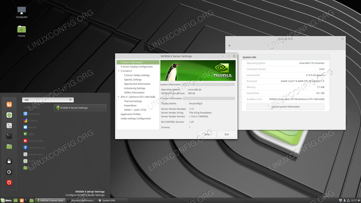 Nvidia VGA configuration on Linux Mint