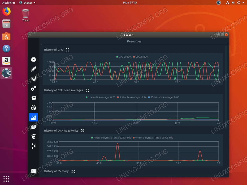 System monitoring on Ubuntu 18.04 with Stacer