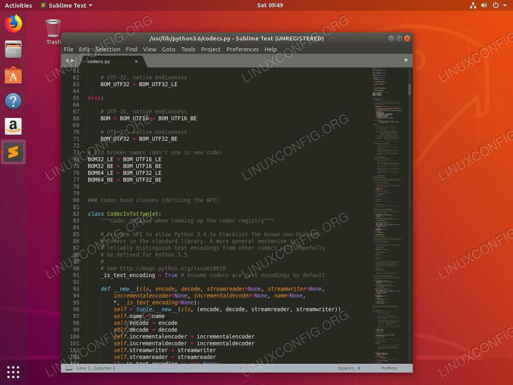 Sublime Text on Ubuntu 18.04