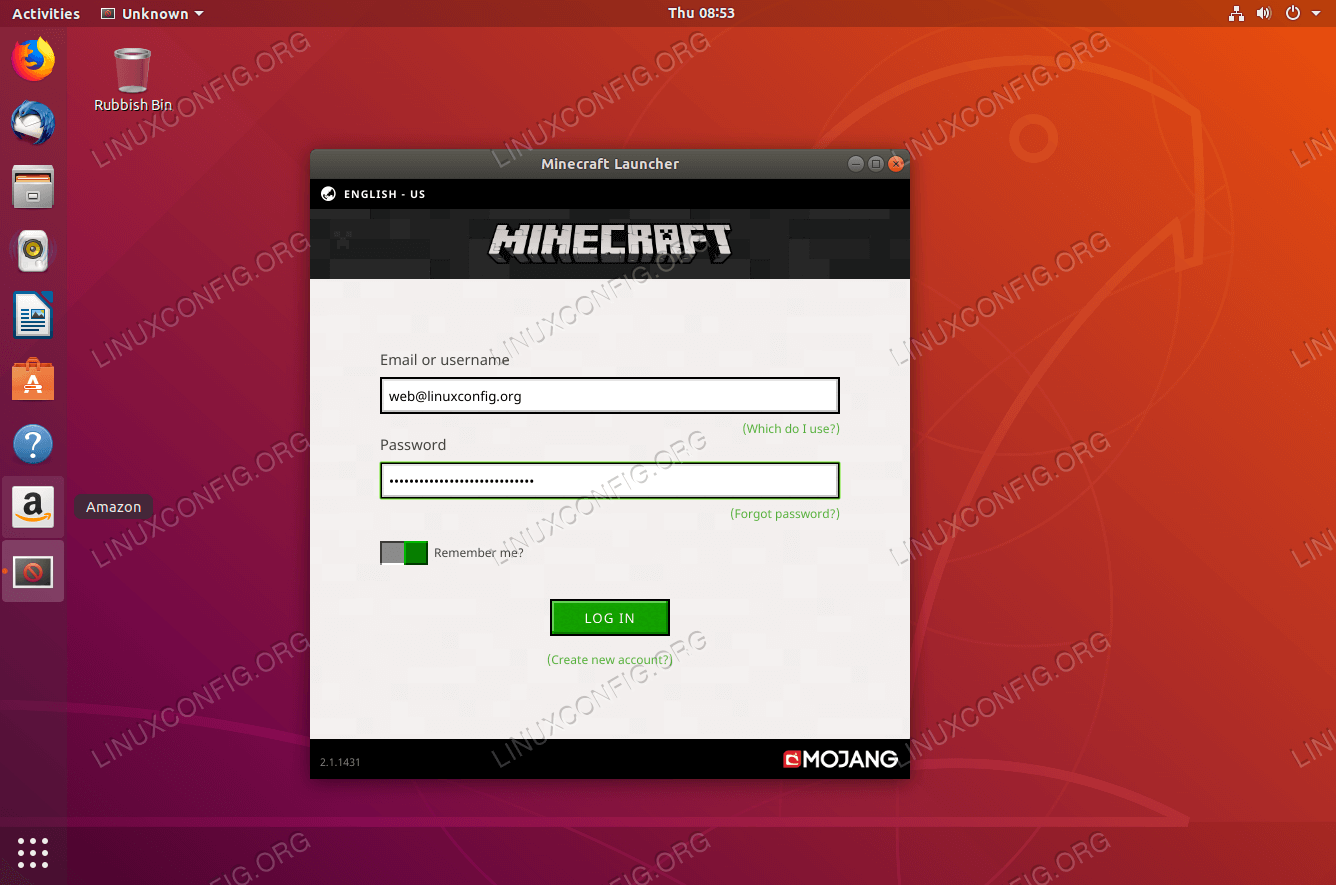 How to install Minecraft on Ubuntu 18 04 Bionic Beaver Linux