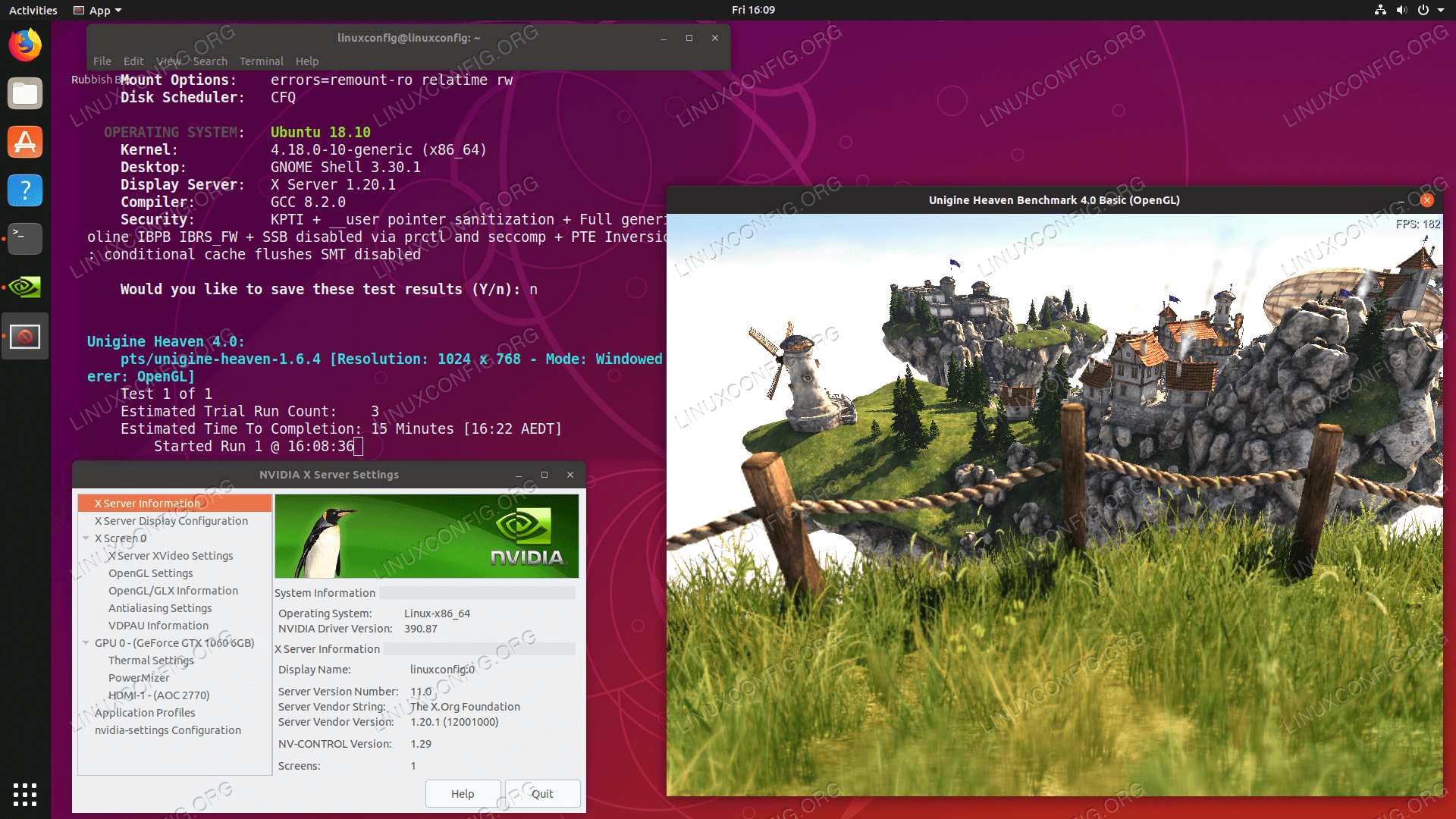 Installed NVIDIA drivers on Ubuntu 18.10 Cosmic Cuttlefish Linux