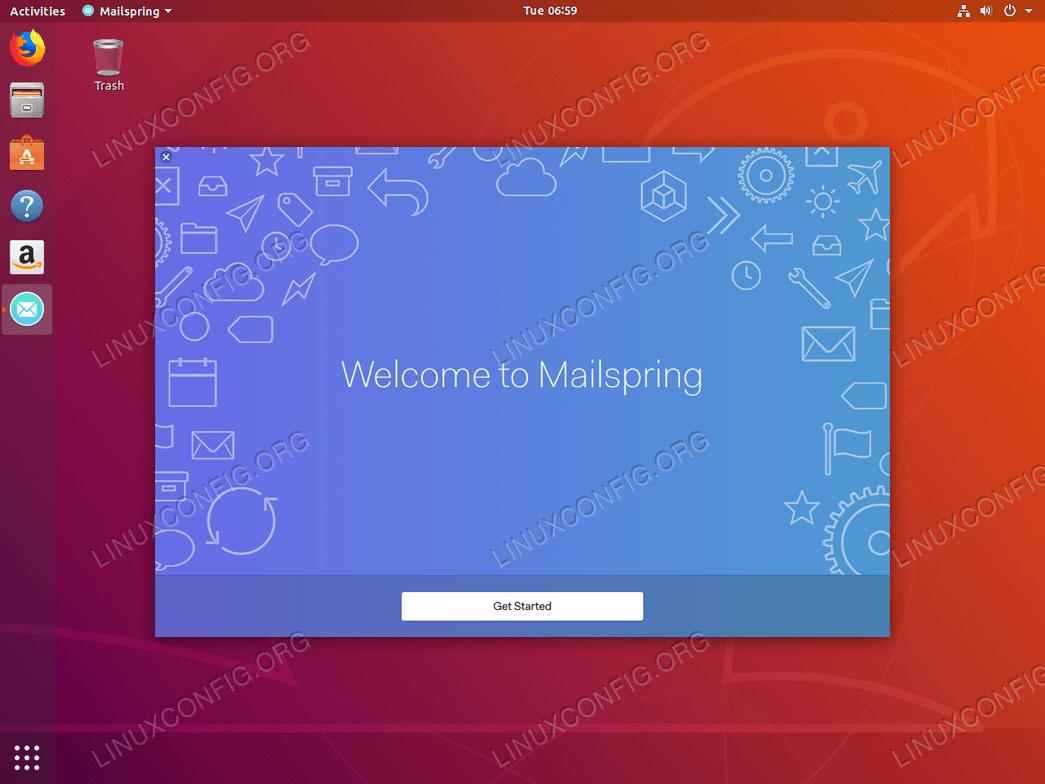 Configure mailspring email client
