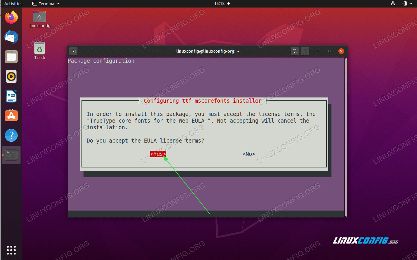 Accept the End User License Agreement<