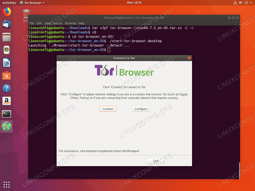 how to install tor browser in ubuntu 18 04 bionic beaver