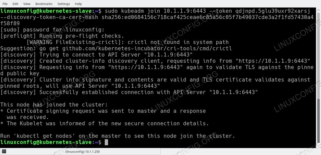 Ubuntu 18.04 Node joins Kubernetes cluster