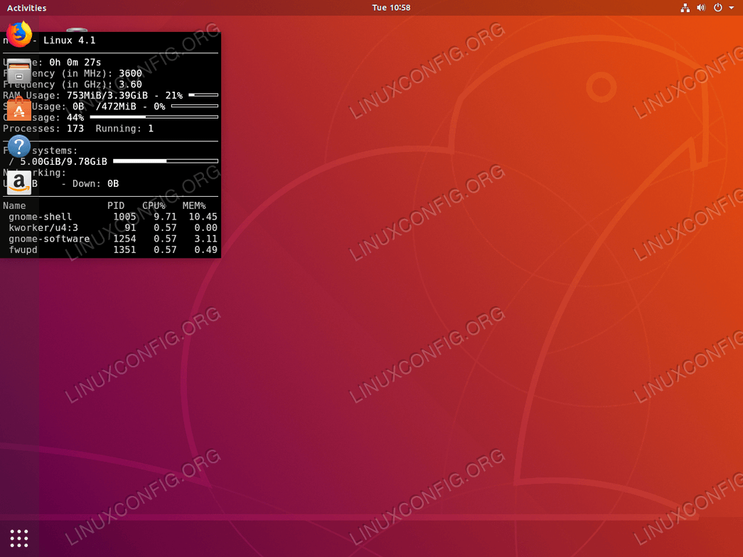 System Monitoring on Ubuntu 18 04 Linux with Conky
