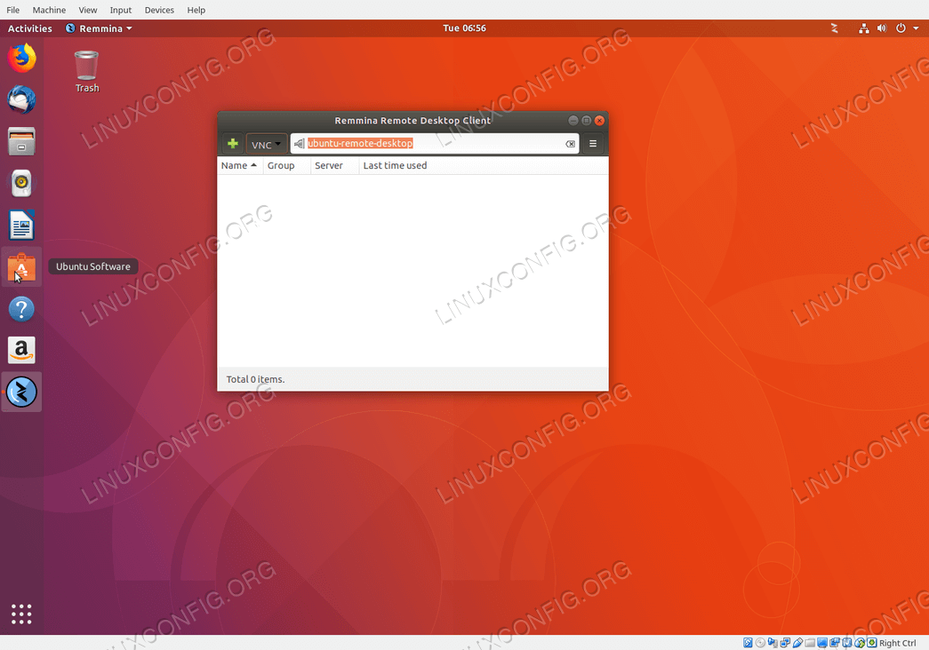 establish quick ubuntu remote desktop connection