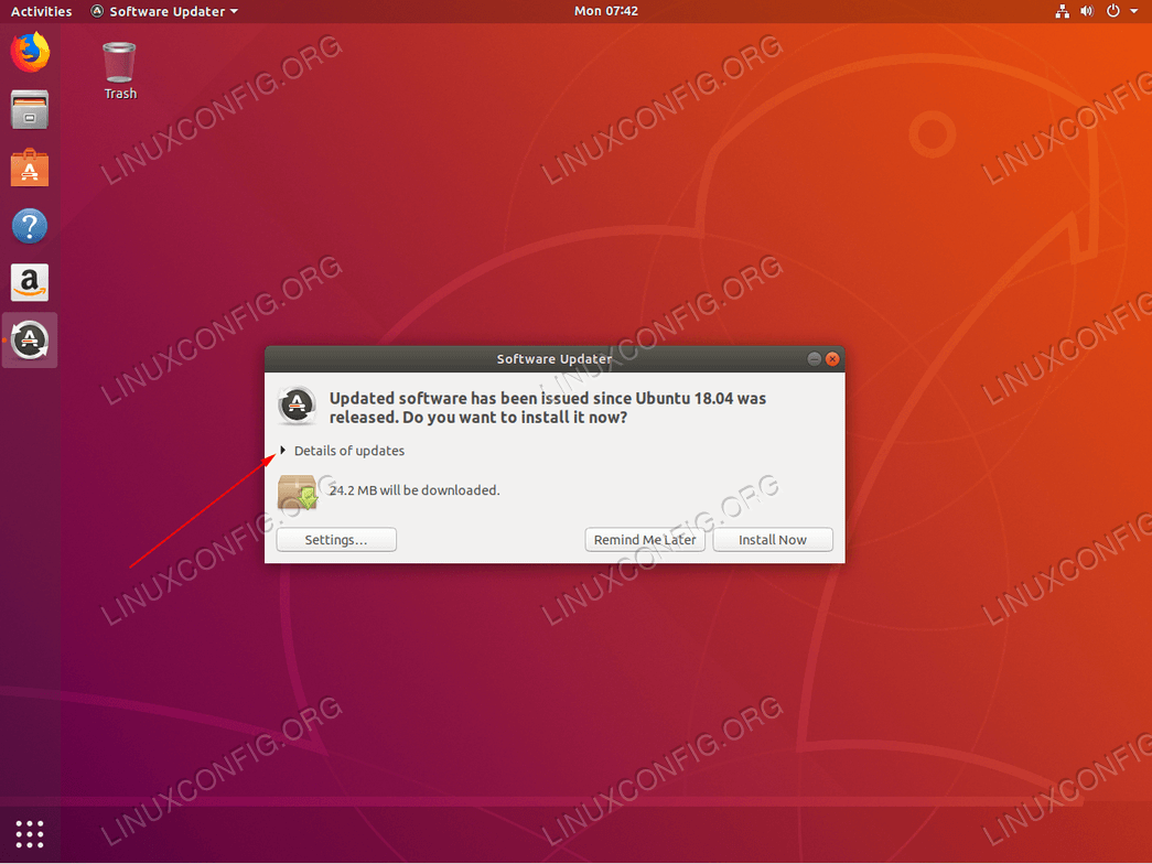 Ubuntu update - Details of updates